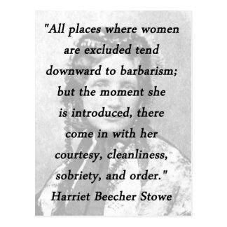 All Places - Harriet Beecher Stowe Postcard