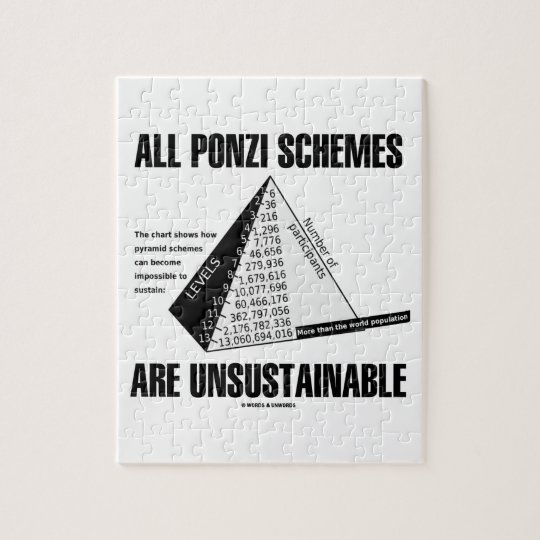 All Ponzi Schemes Are Unsustainable (Econ Humour) Jigsaw Puzzle
