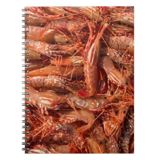 All Prawn and No Brain Spiral Notebooks