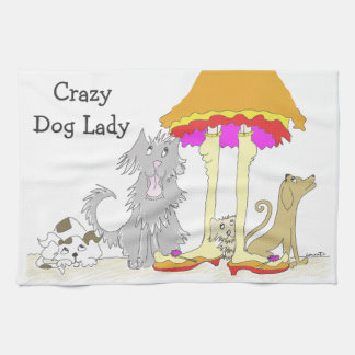 All Proceeds to Animal Charity Crazy Dog Lady Kitchen Towel