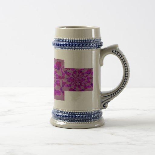 All purple burst pattern of a single repeated rose coffee mug