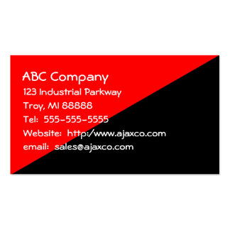 All Purpose Business Card Red Over Black