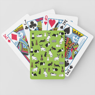 All rabbits bicycle playing cards