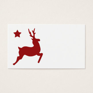 All Red Reindeer Place Card