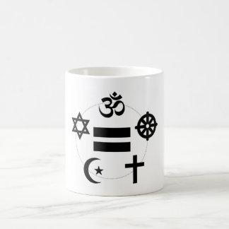 All Religions Equal Circle Mug