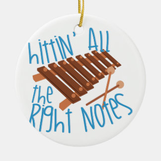 All Right Notes Ceramic Ornament