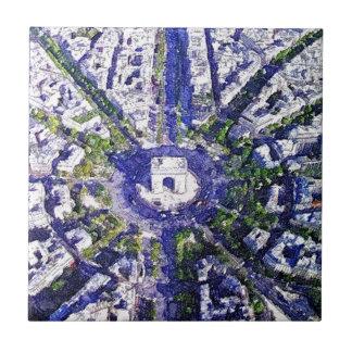 All Roads lead to Paris Ceramic Tile