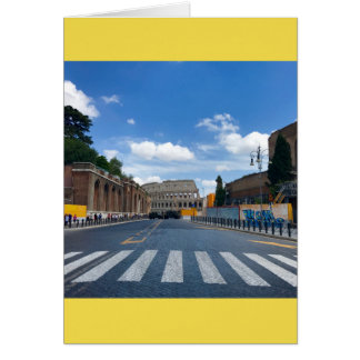 All Roads Lead to Rome Blank Greeting Card