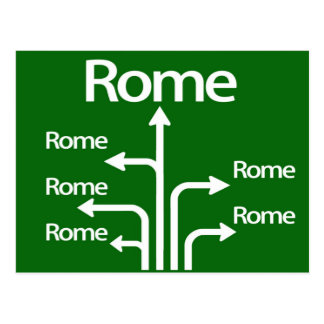 All roads lead to Rome Postcard