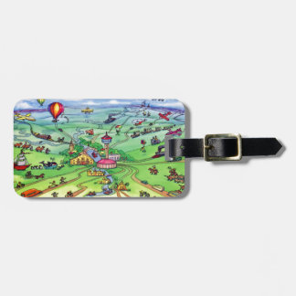 All Roads Lead to San Antonio Texas Luggage Tag