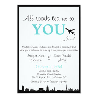 All Roads Led Me to You - Two-Sided Wedding Invite