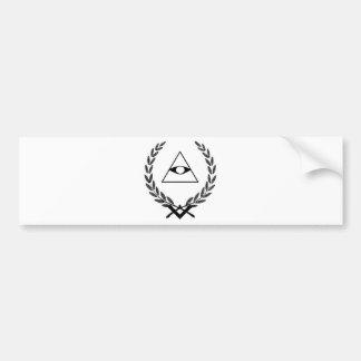 All Seeing Eye crest symbolism F&AM Bumper Sticker