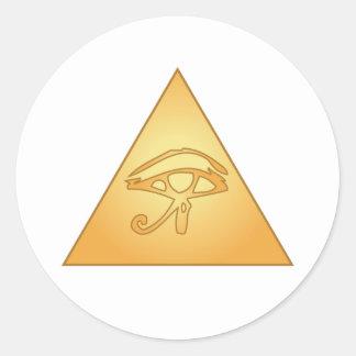 All Seeing Eye / Eye of Horus: Classic Round Sticker