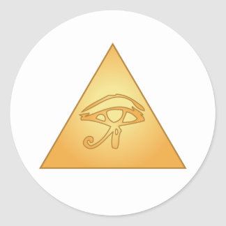 All Seeing Eye / Eye of Horus: Round Sticker