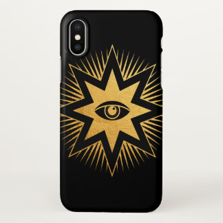 All Seeing Eye Gold Freemasonry Symbol iPhone Case