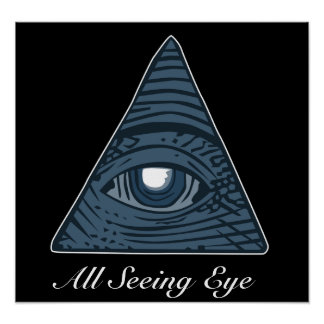 All Seeing Eye Illuminati Conspiracy Theory Poster