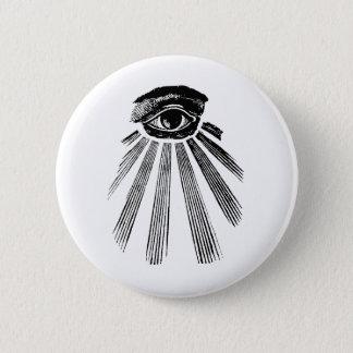 All Seeing Eye Mason 2 Inch Round Button
