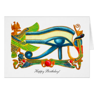 All Seeing Eye Of Horus - Happy Birthday Card