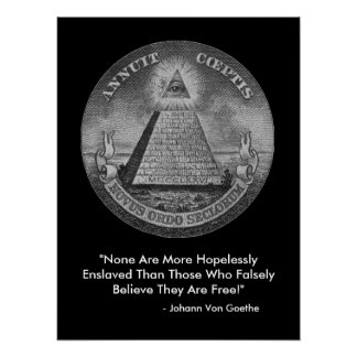 All Seeing Eye of the Illuminati Poster