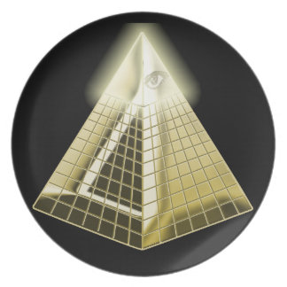 All Seeing Eye Pyramid 1 Dinner Plate