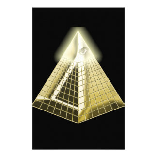 All Seeing Eye Pyramid 1 Personalized Stationery