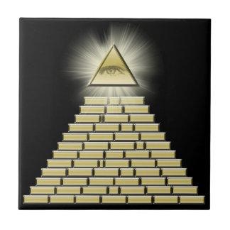 All Seeing Eye Pyramid 2 Ceramic Tile