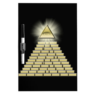 All Seeing Eye Pyramid 2 Dry Erase White Board