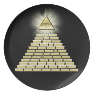 All Seeing Eye Pyramid 2 Party Plate