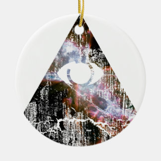 All Seeing Eye Round Ceramic Ornament