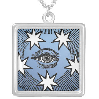 All-Seeing Eye Silver Plated Necklace
