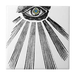 All Seeing Eye Square and Compass Masonic Ceramic Tiles