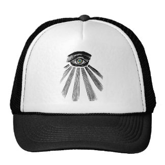 All Seeing Eye Square and Compass Masonic Mesh Hats