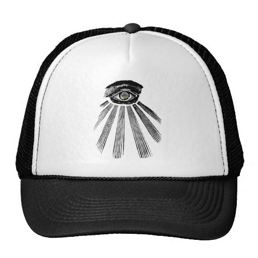 All Seeing Eye Square and Compass Masonic Hat