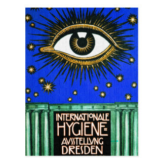All-Seeing Eye Vintage Art Postcard
