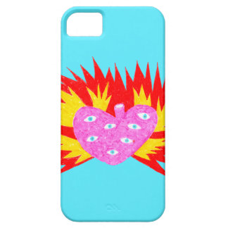 All Seeing Flaming Hart iPhone 5 Cover