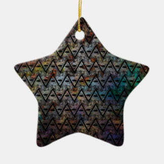 All Seeing Pattern Ceramic Ornament