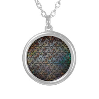 All Seeing Pattern Silver Plated Necklace