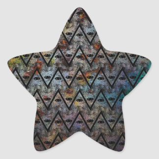 All Seeing Pattern Star Sticker