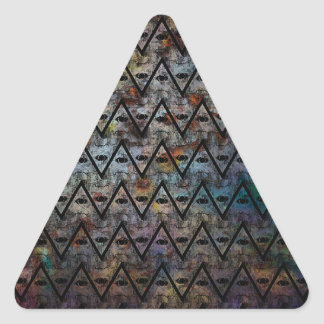 All Seeing Pattern Triangle Sticker