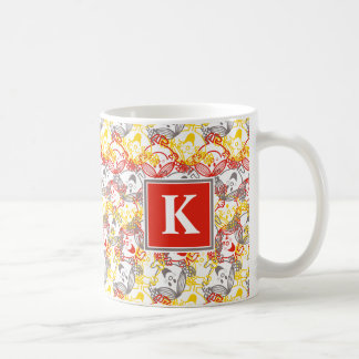 All Smiles Pattern | Monogram Coffee Mug