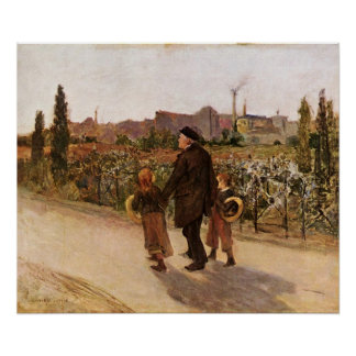 All Souls' Day by Jules Bastien-Lepage Poster
