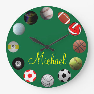 All Sports Sport Fan Large Clock
