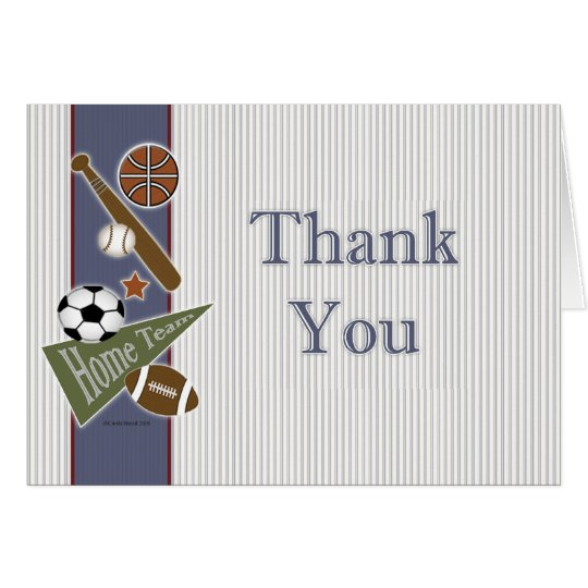 All Sports Thank You Card