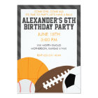 All Star Birthday Party Invitation
