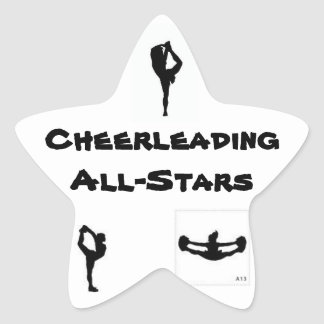 all star cheer star sticker