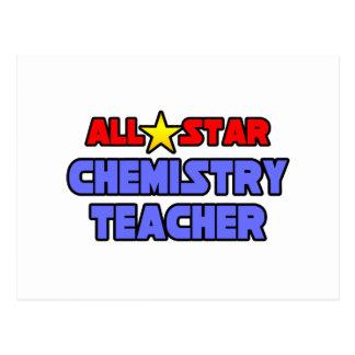 All Star Chemistry Teacher Postcard