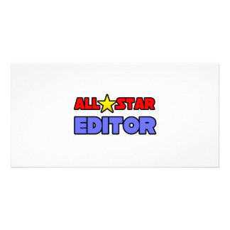 All Star Editor Custom Photo Card