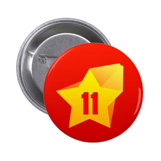 All Star Eleven years old Birthday Pinback Button