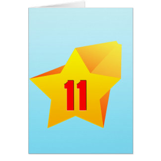 All Star Eleven years old Birthday Greeting Cards