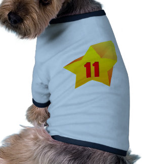 All Star Eleven years old Birthday Dog Tshirt